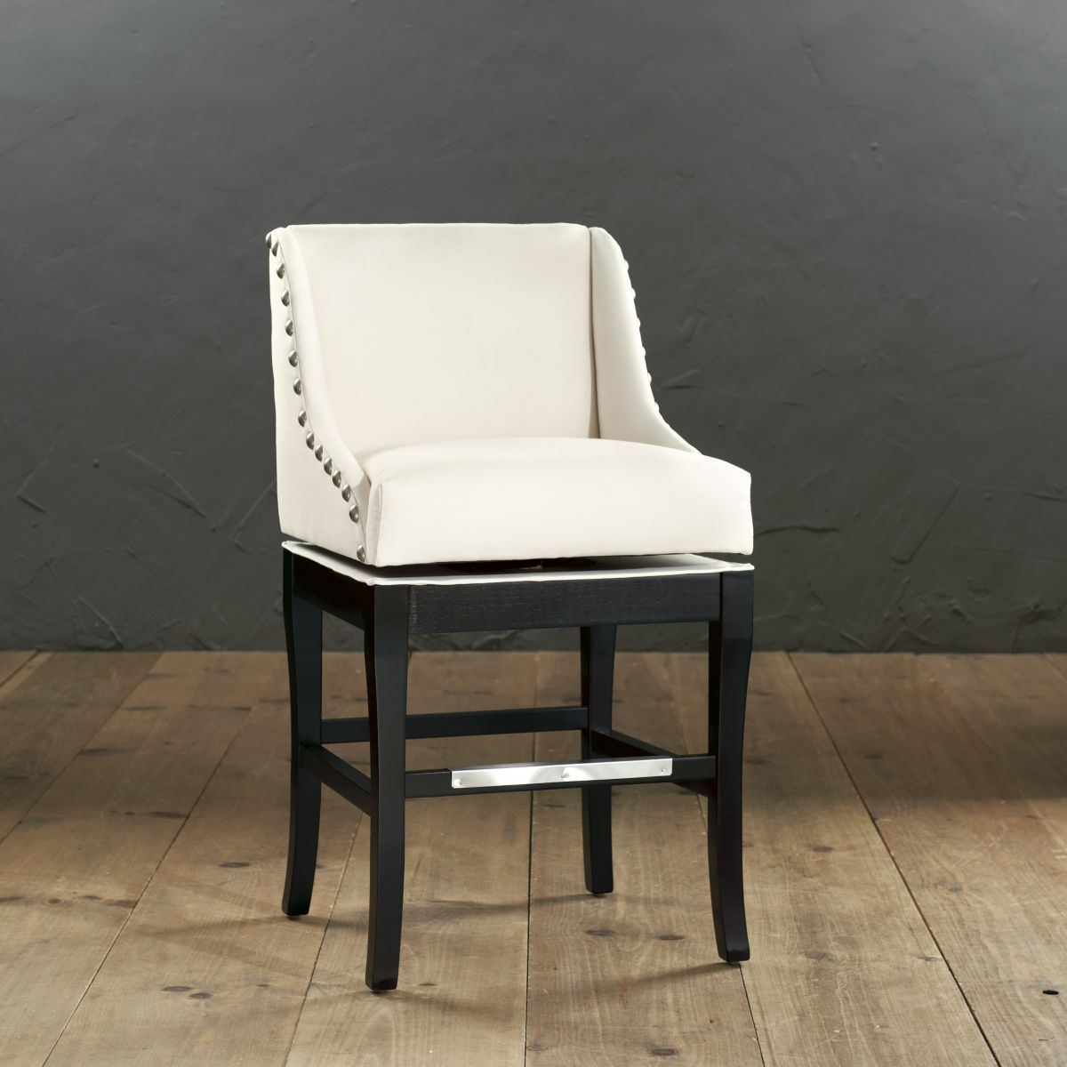 Marcello Counter Stool With Pewter Nailhead Trim For