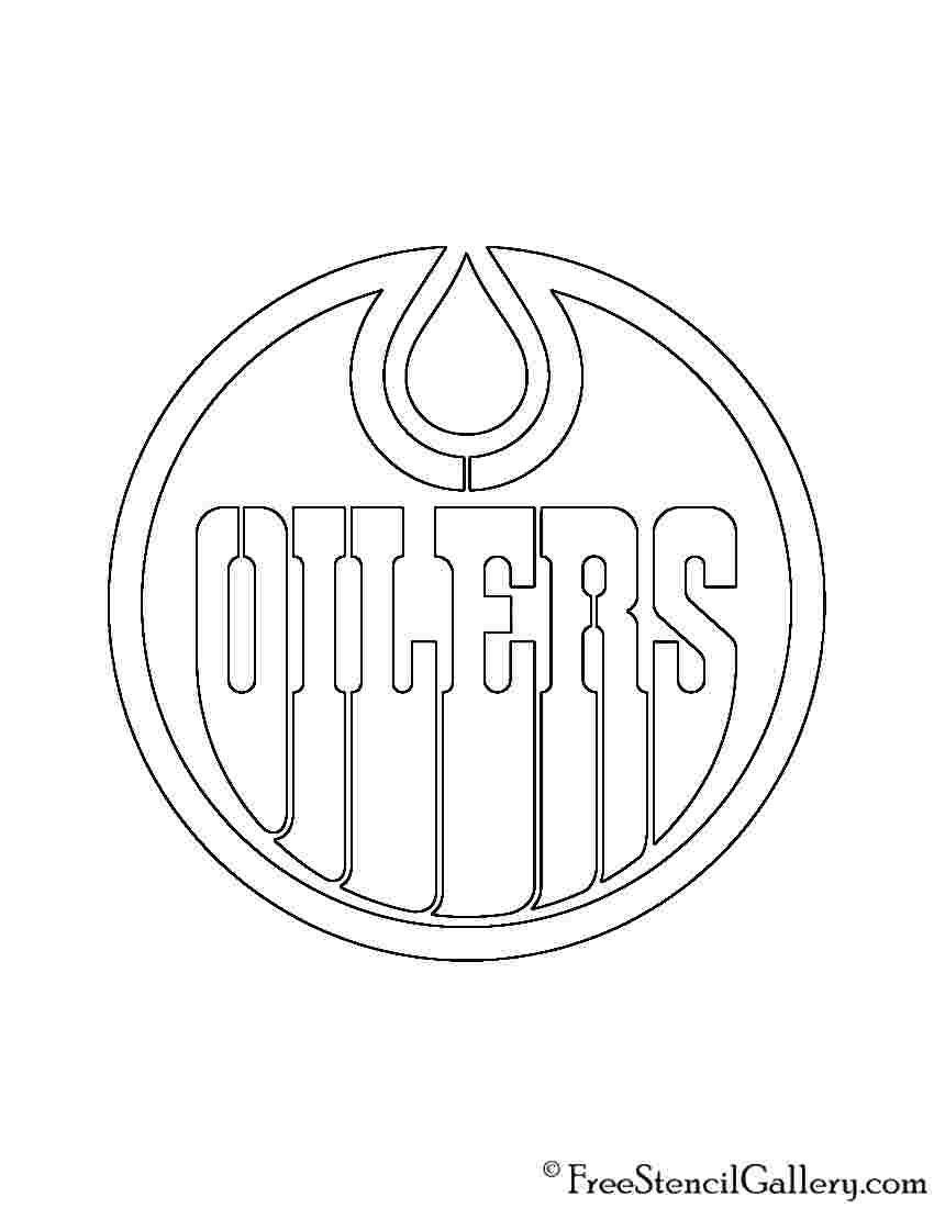 Edmonton Oilers Coloring Pages In 2020 Edmonton Oilers Oilers