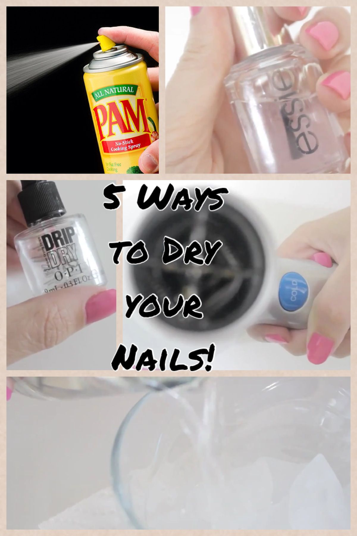 12 Fast and Easy ways to dry your nails   Spray Pam cooking spray ...