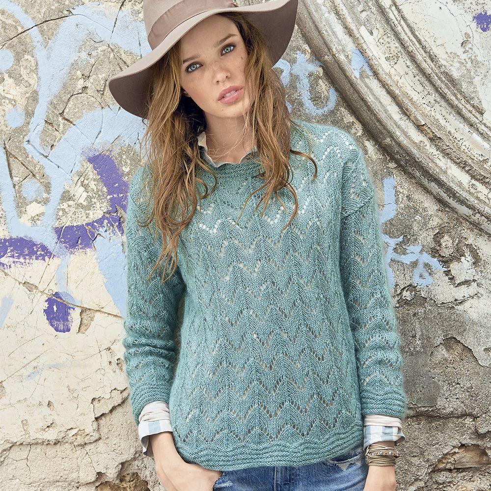 Jersey mohair con un diseño calado | punto | Pinterest | Dos agujas ...