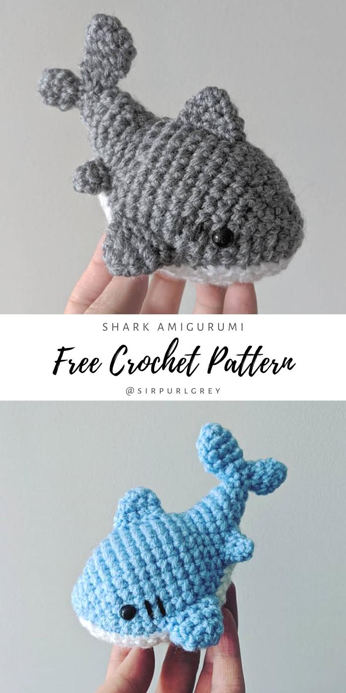 Shark Amigurumi Free Crochet Pattern - Sir Purl Gr