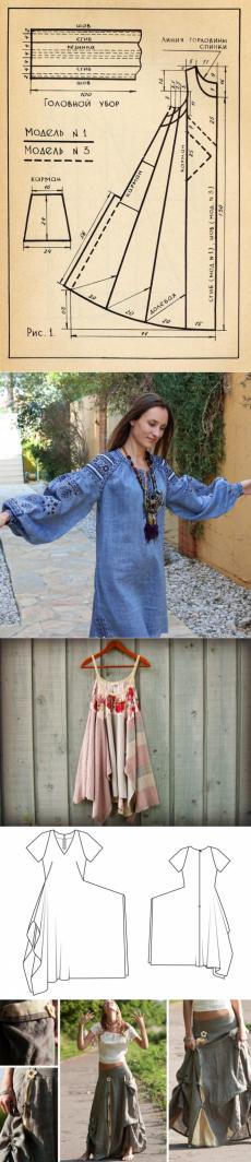 Выкройки платьев юбок сарафанов