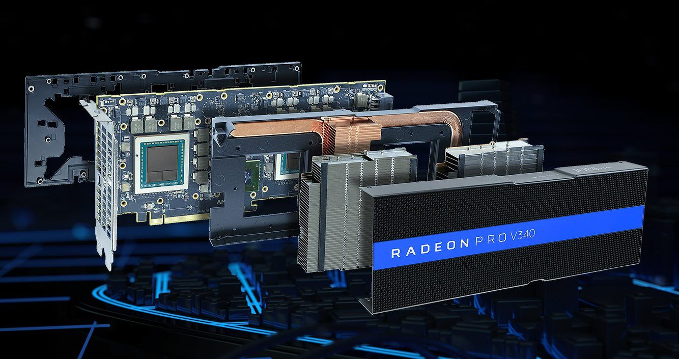 Amd Today Announced The Radeon Pro V340 Graphics Card A High Performance Dual Gpu Virtual Desktop Infrastructure Vdi S Graphic Card Android Technology Vega