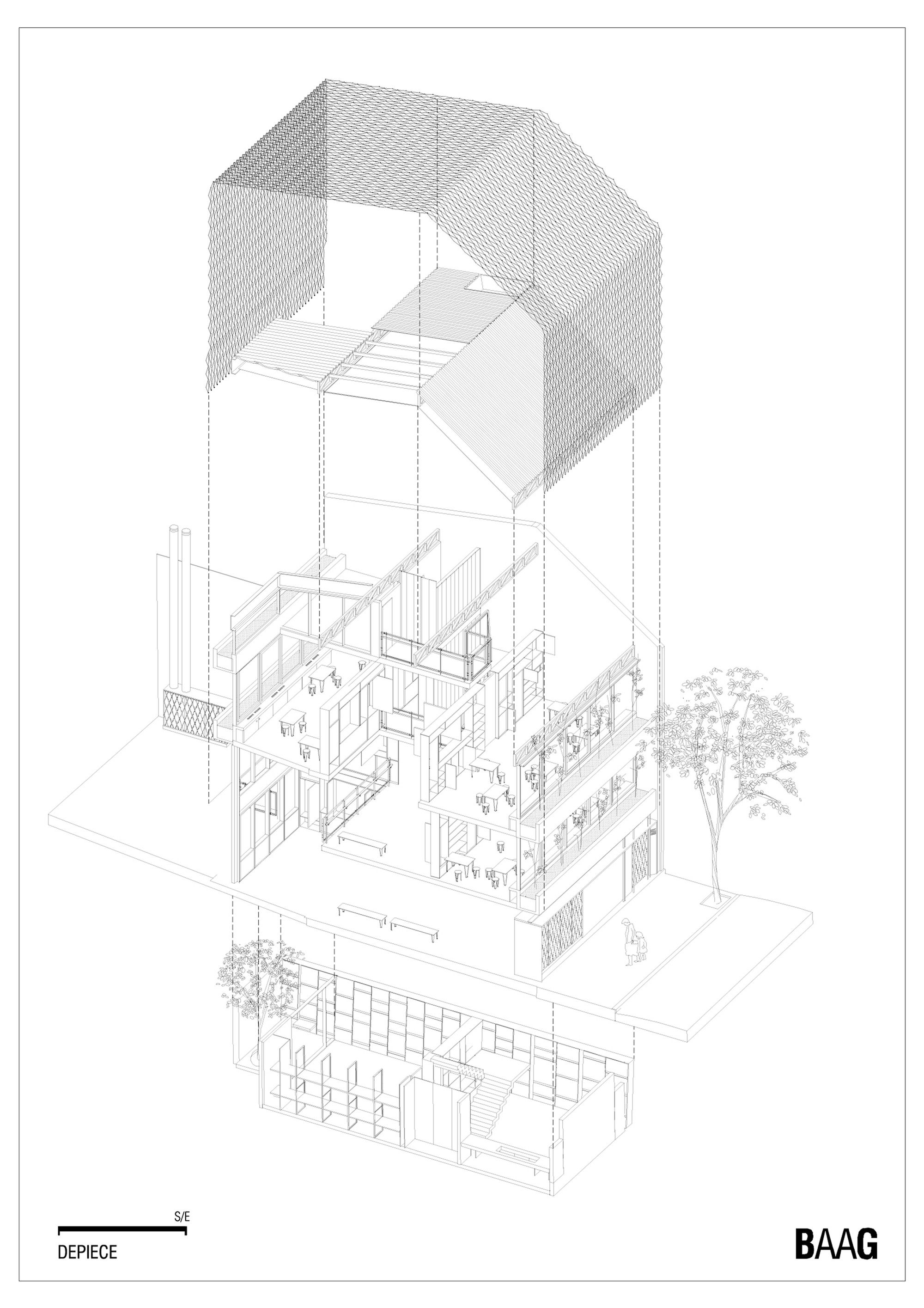 Image 51 of 59 from gallery of Casa Scout  / BAAG. Axonometric