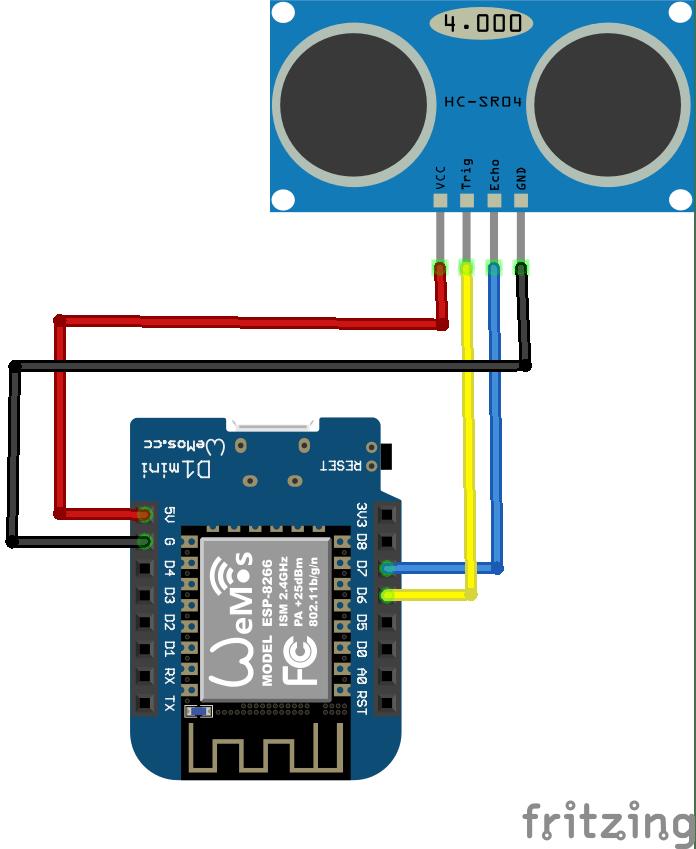 Using Wemos D1 Mini As An Remote Ultrasonic Range Finder Arduino Wifi Ultrasonic Sensor