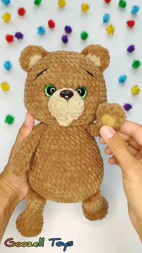 Teddy Bear Crochet toy pattern, Amigurumi Bear toy tutorial, Crochet animal PDF pattern #crochetteddybearpattern