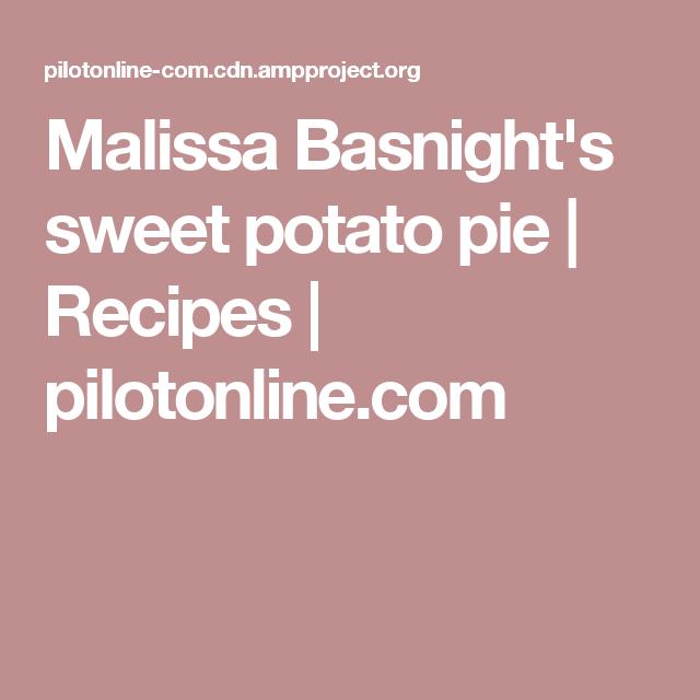 Malissa Basnight's Sweet Potato Pie