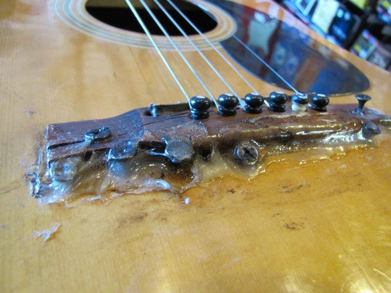 Bridge Fixed Violas Guitar Building Brass