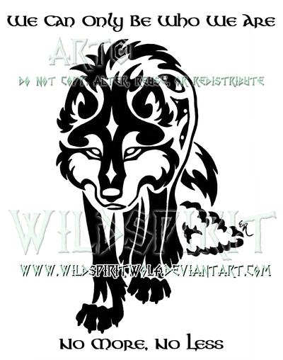Gaelic Wolf And Sheepskin Design by WildSpiritWolf