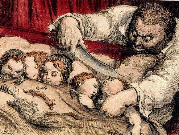 Conte De Perrault Le Petit Poucet Le Petit Poucet Gustave Dore Et Ogre