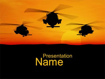 Httppptstarpowerpointtemplatehelicopters at sunset helicopters at sunset presentation template toneelgroepblik Image collections