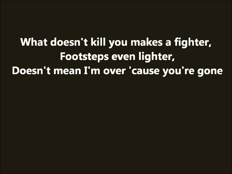 James Arthur - Stronger (What Doesn't Kill You) lyrics