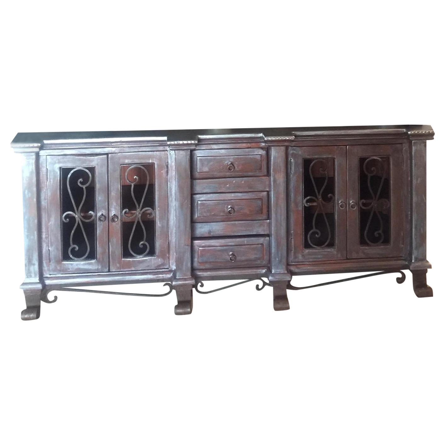 Rustic Glam Sideboard Distressed Silver Finish Rustic Glam Sideboard Rustic