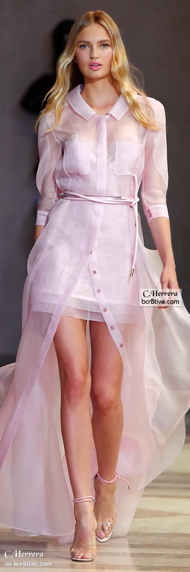 Carolina Herrera Spring 2016 | Vestido de organza, Alta costura y ...