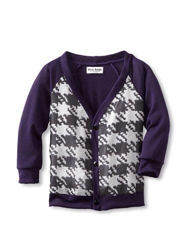 66% OFF Upper School Girl's Houndstooth Chiffon Cardigan (Purple ...