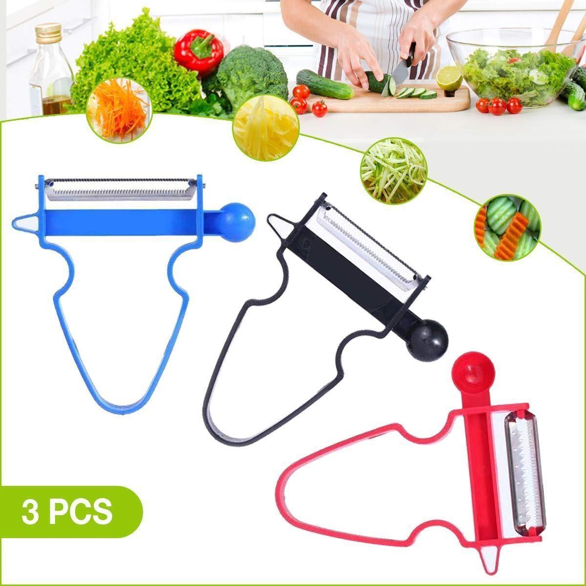 3pcs//set Pro Magic Trio Peeler Vegetable Fruit Julienne Creative Accessory
