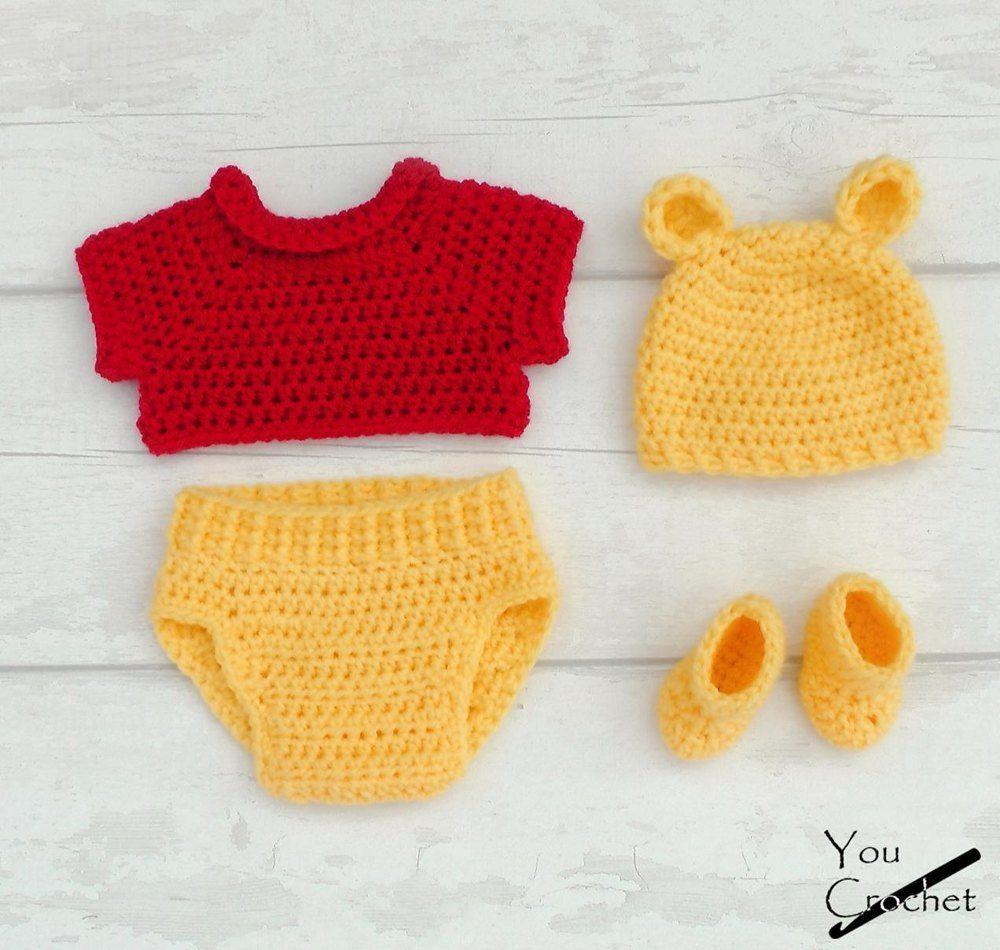 Tutorial Winnie the Pooh Amigurumi | How to crochet Winnie the ... | 950x1000