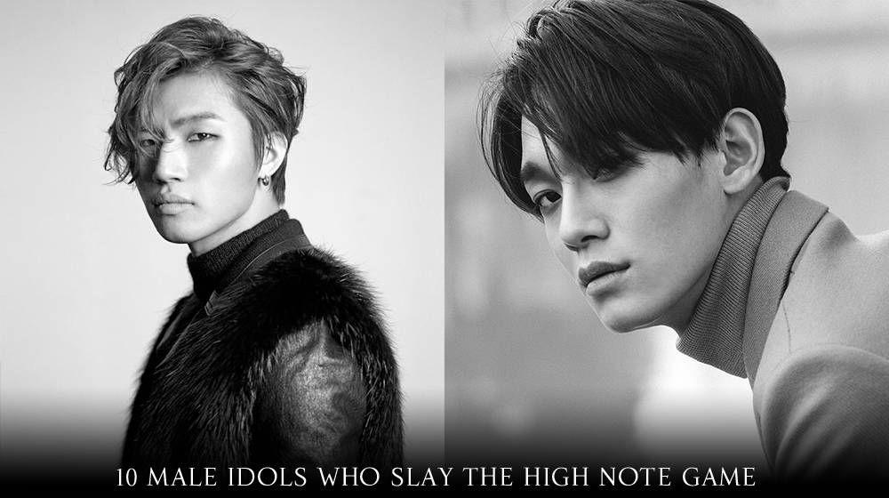 10 Male Idols Who Slay The High Note Game Kpop Guys Idol Actors Actresses