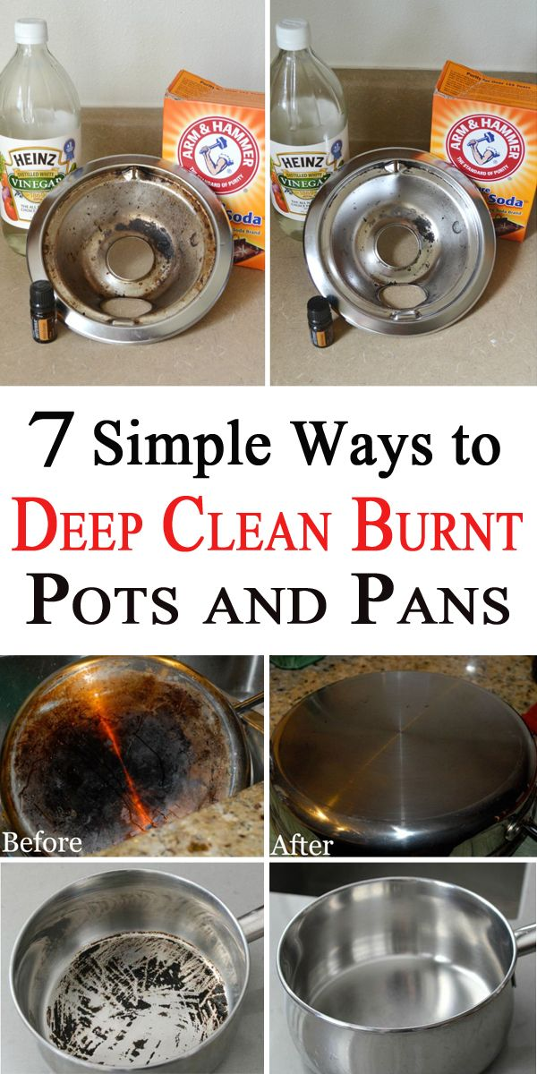 How to clean the burnt pot