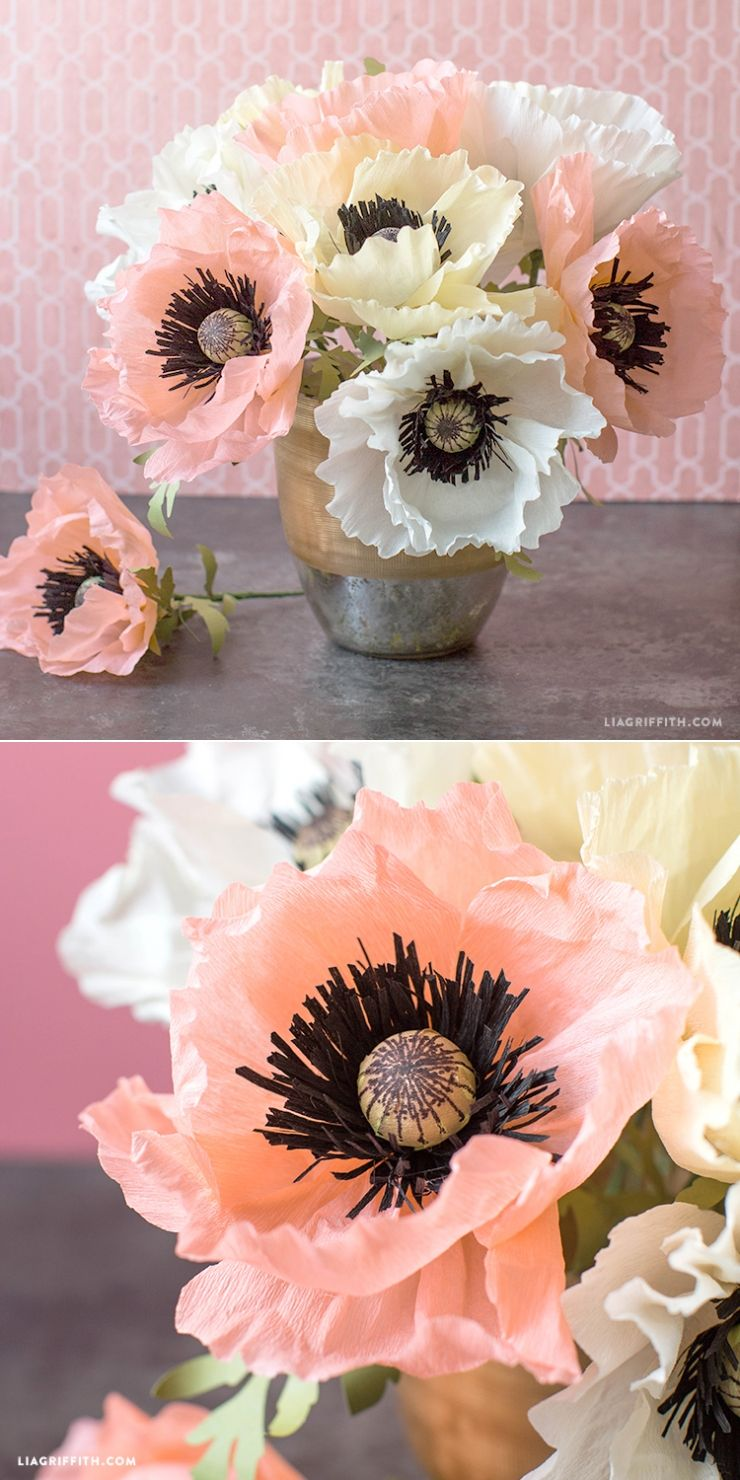 Crepe Paper Poppies Video Tutorial Paper Flowers Foliage