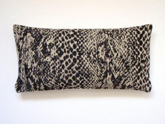 Lumbar Pillow 8x16 Petite Lumbar Black Pillow By