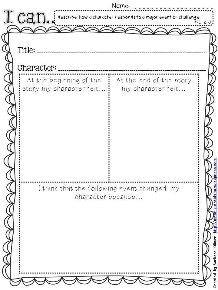 RL 23 graphic organizer 2 Literacy Pinterest Graphic - t chart template