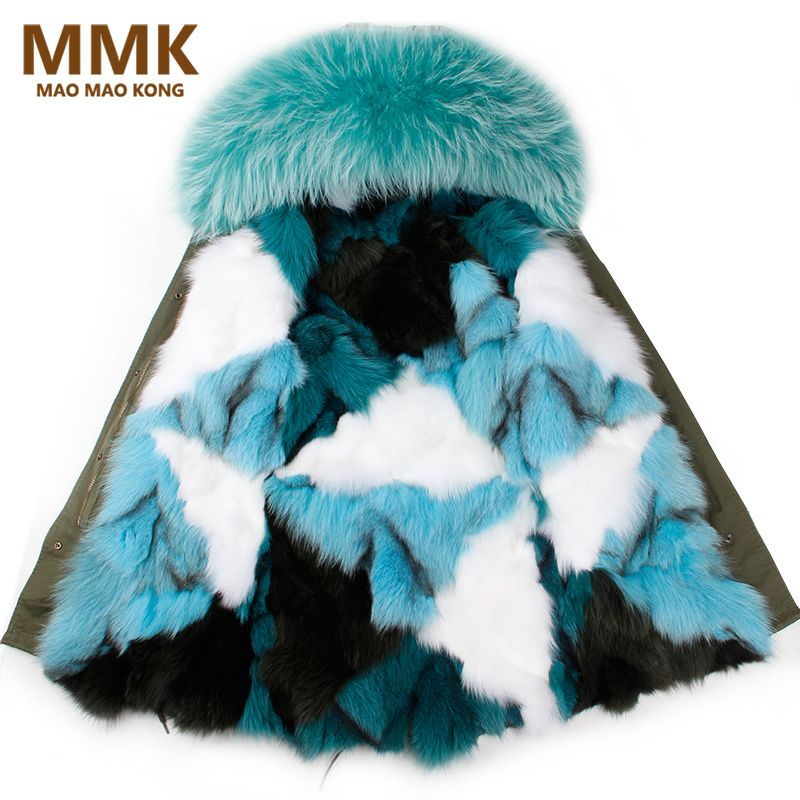 2017 winter jacket coat women parka big real raccoon fur collar hooded natural silver fox fur coat amazing quality fast delivery #Affiliate