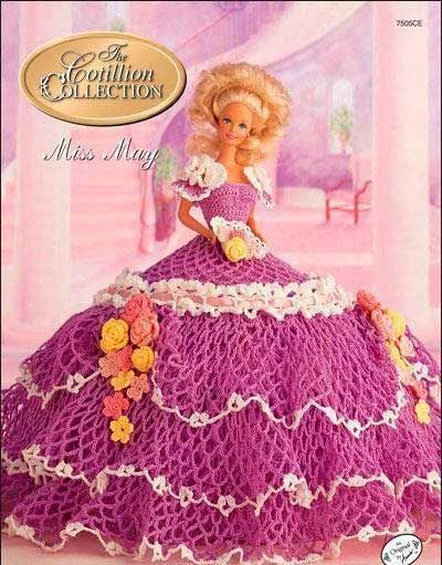 Image result for patrones de vestidos a ganchillo para muñecas ...