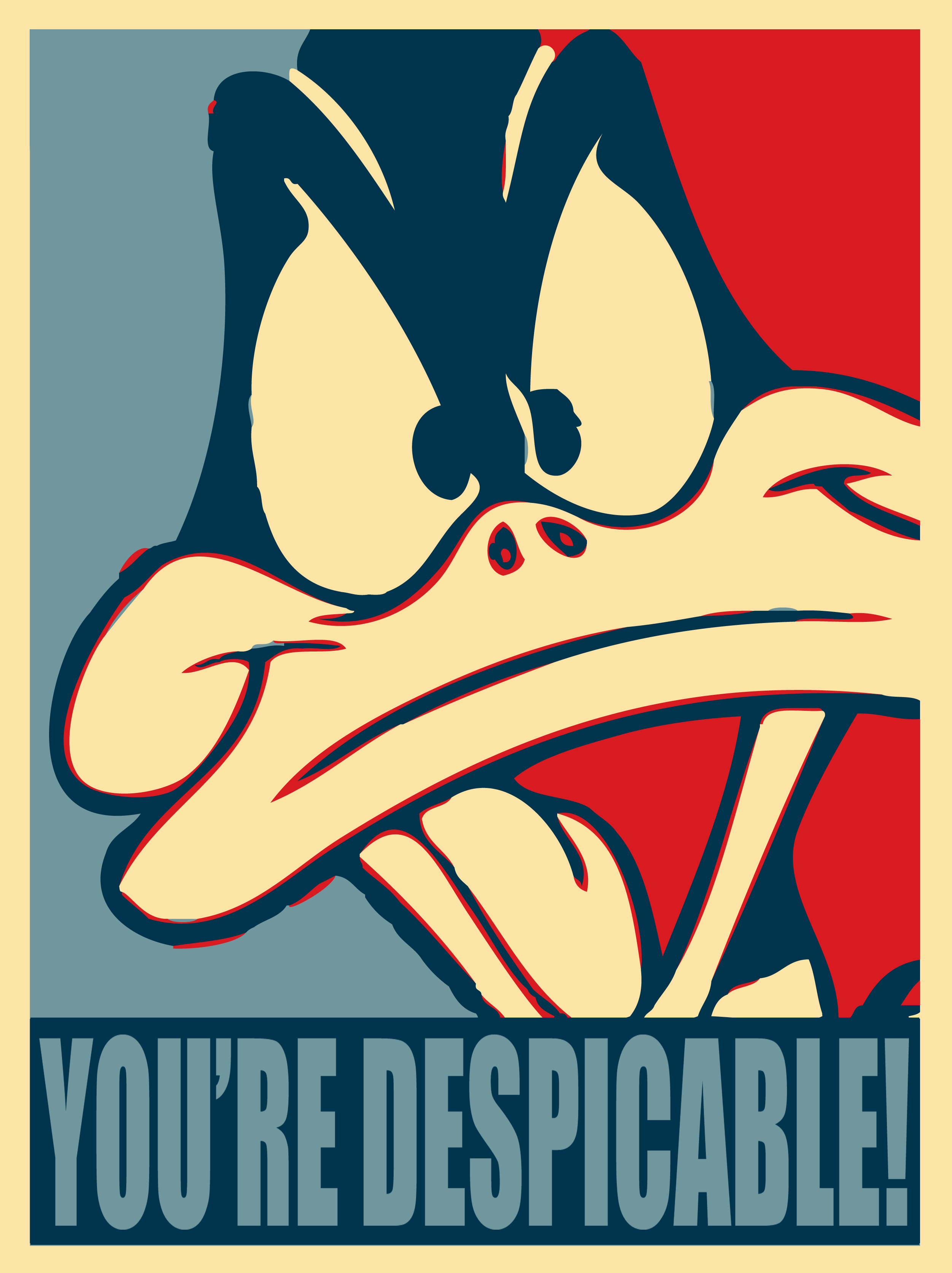 Daffy Duck Looney Tunes Youu0027re Despicable Funny Humor Poster