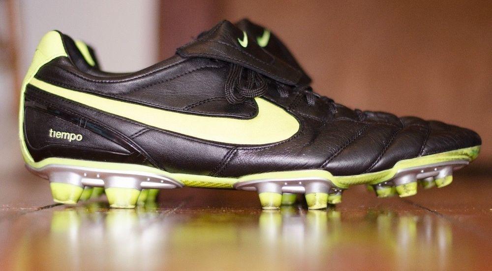 12170c7101005f Nike Air Legend 2 ii Men s Sz 13 FG TIEMPO Soccer Cleats Black Volt  317041-071  NIKE