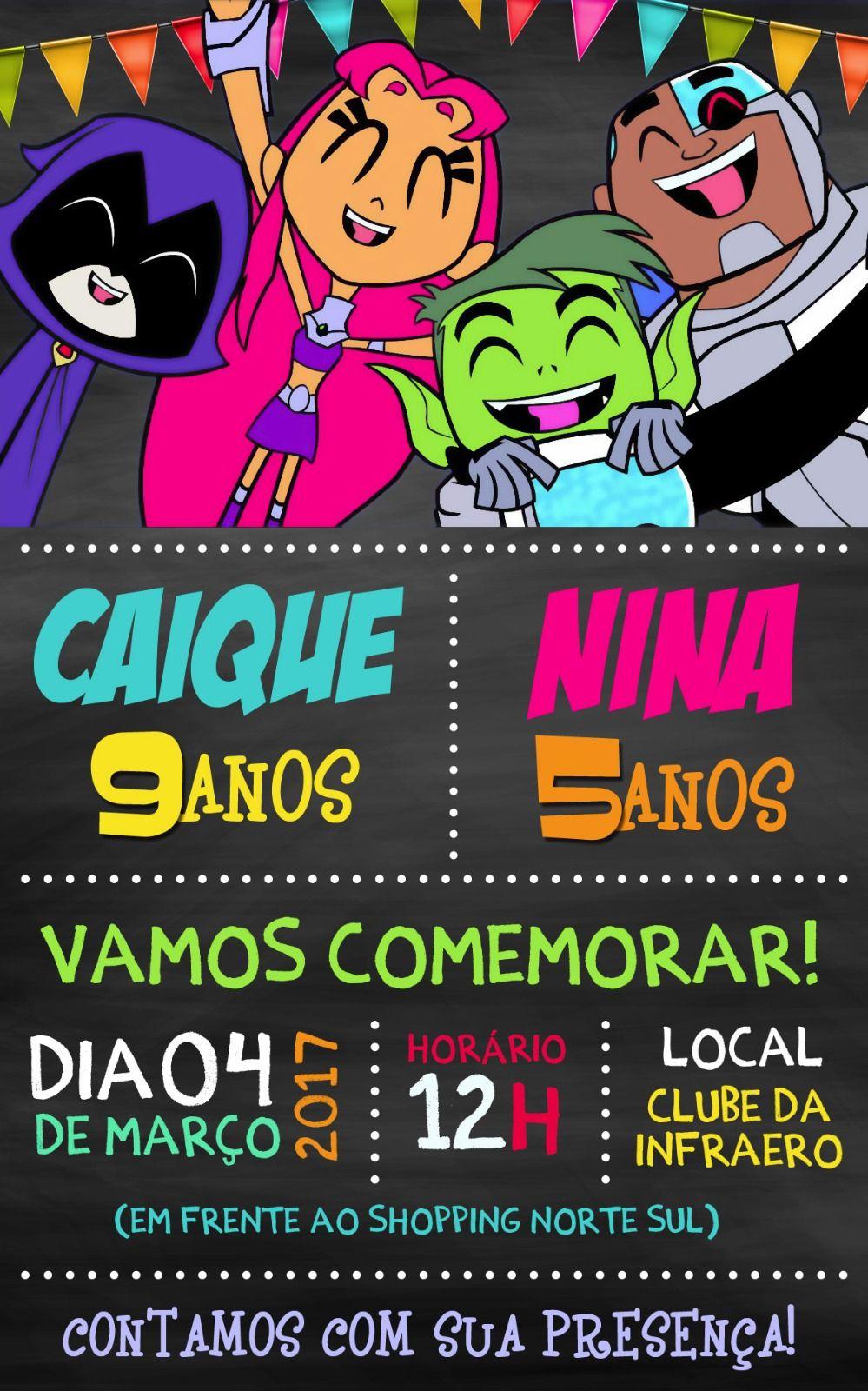 Convite Festa Jovens Titãs Feito Pela Gráfica Gdz Convites Em