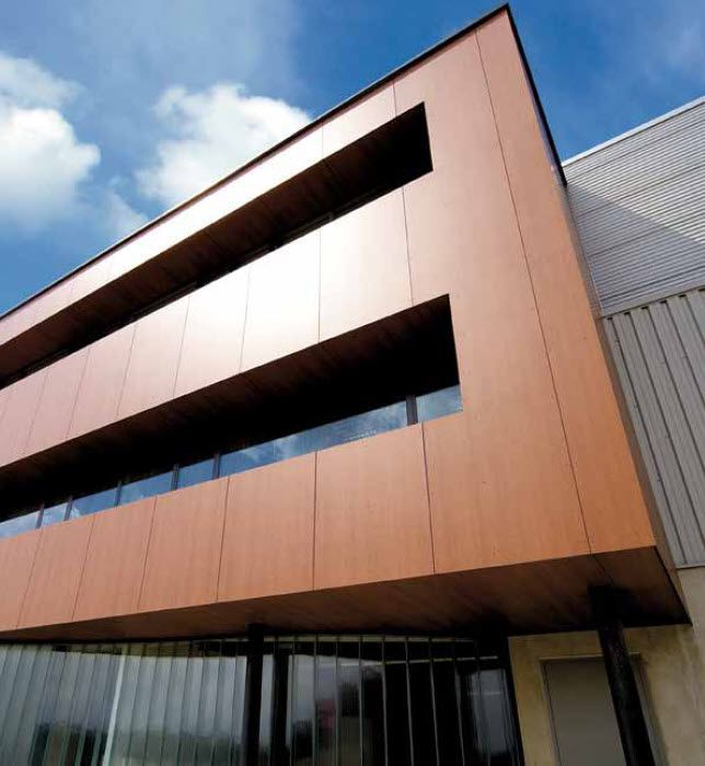 Fassadengestaltung holzoptik  Fassadenverkleidung in Holzoptik aus Verbundwerkstoff WOOD ...