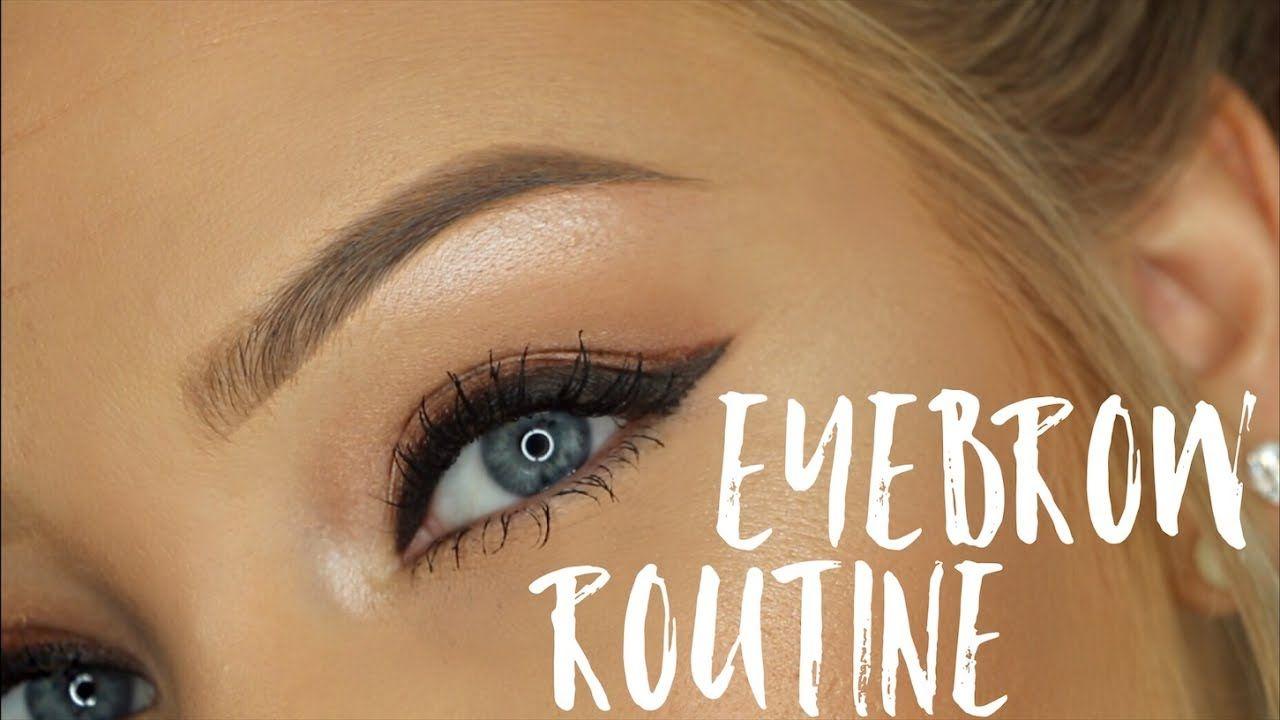 My Eyebrow Routine Youtube Youtube List Pinterest
