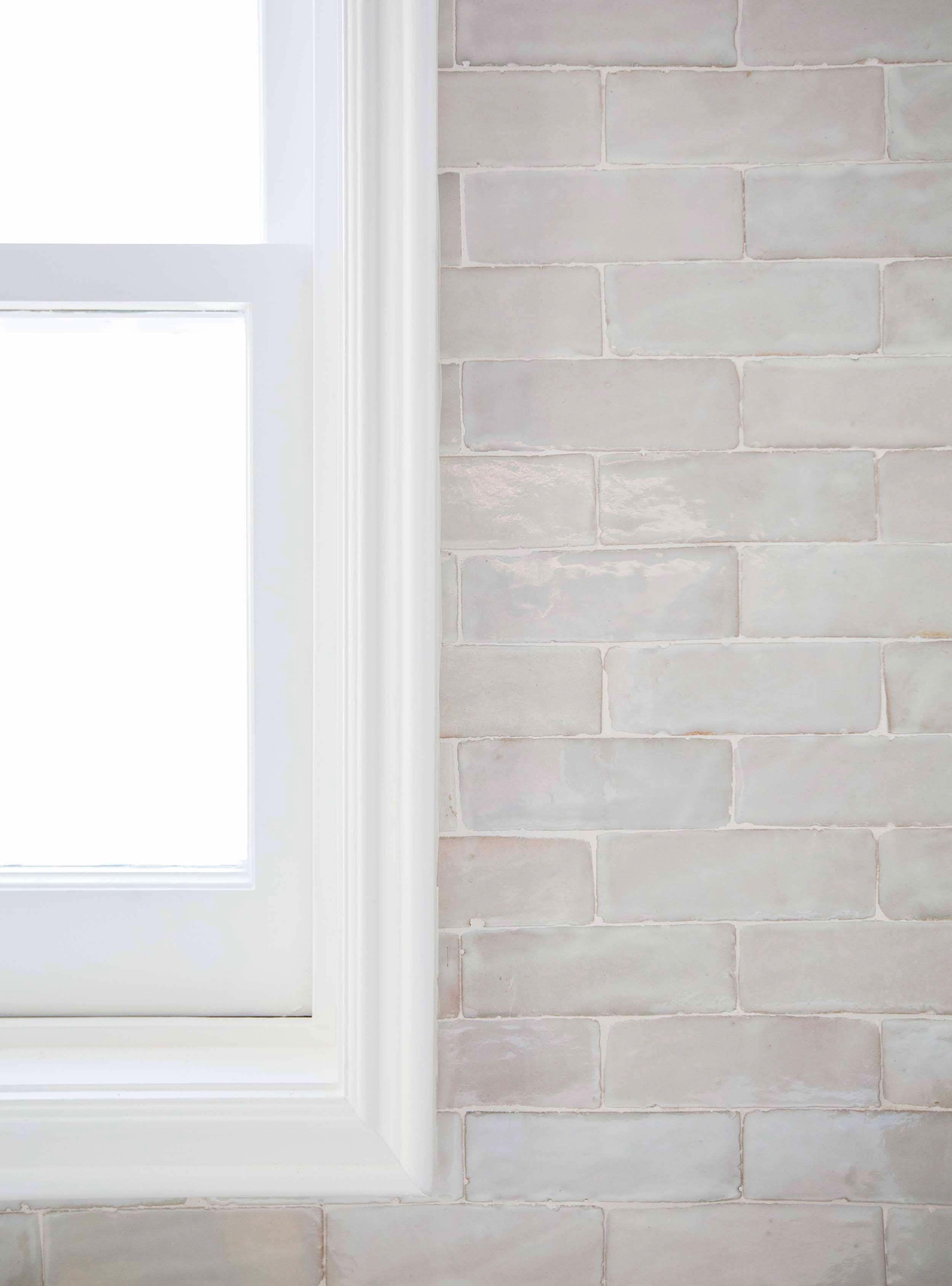 Weathered White Zellige 2 X6 X3 4 Subway English Country Kitchens White Tile Backsplash Handmade Subway Tile