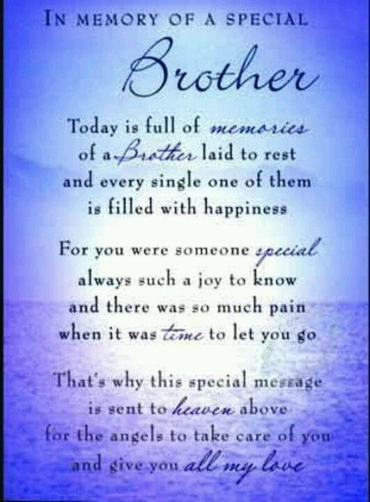 Pin By Anita Castillo On Loving Memories Of Our Loved Ones Sympathy Quotes Brother Quotes Brother Birthday Quotes