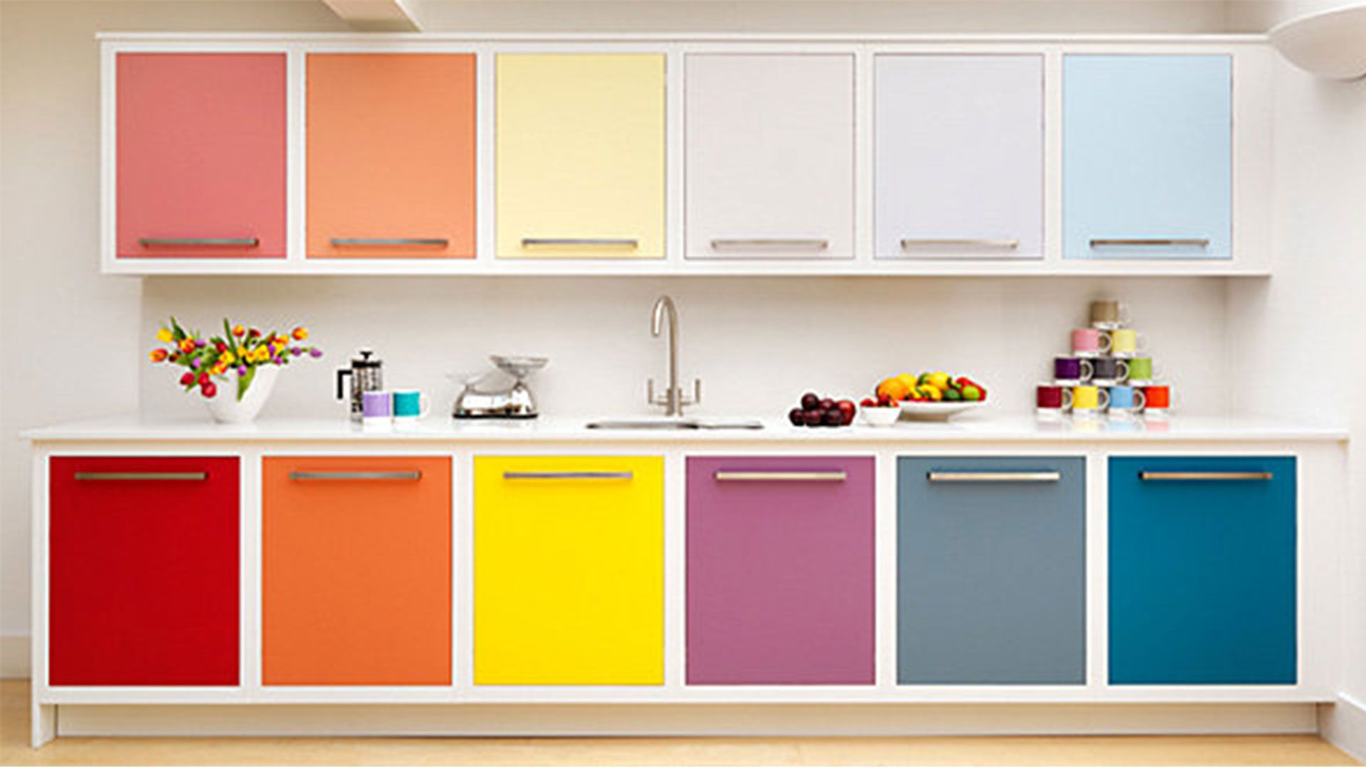15 Modern kitchen design ideas in bright color combinations  Cabinet Ideas colourful cabinet doors for minimalist