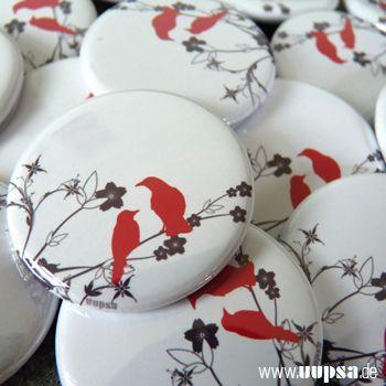 Button *Vogelhochzeit* - broschen / buttons von uupsa - Buttons - Anstecker & Buttons - DaWanda