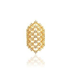 Piercing Falso Rendado Luxo Cravejado de Zircônia Semijoia em Ouro 18K  (unidade) 1222f2cb7e