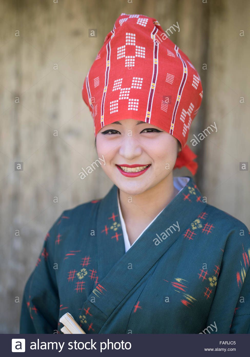 Download This Stock Image Okinawan Woman In Traditional