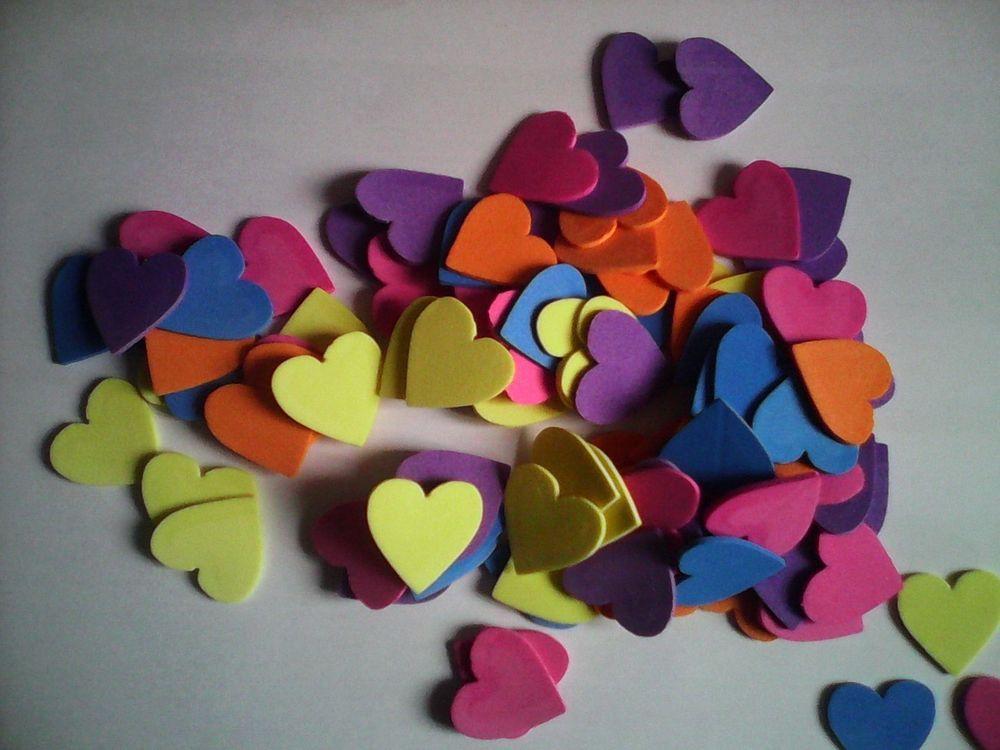 Figuras multicolor de goma eva para manualidades y decoración 100 unidades | eBay