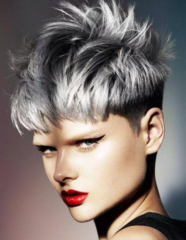 Gray With Undercut Haarschnitt Frisuren Haarschnitt Kurz