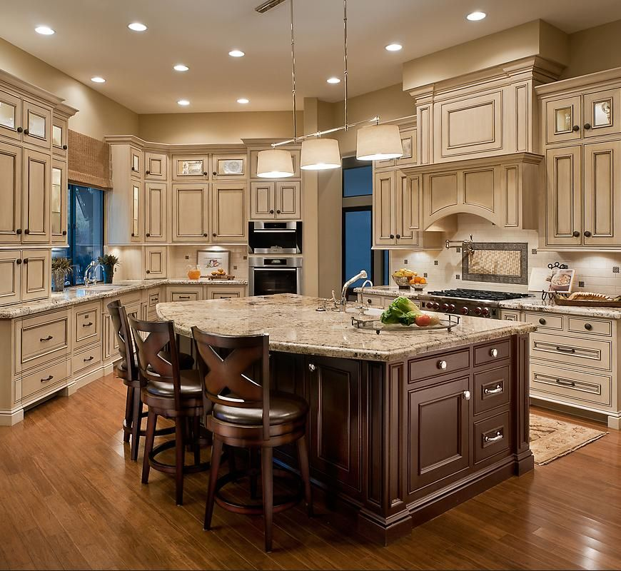 Light Cabinets Dark Island French Country Kitchen Cabinets Country Kitchen Cabinets Kitchen Cabinets Decor