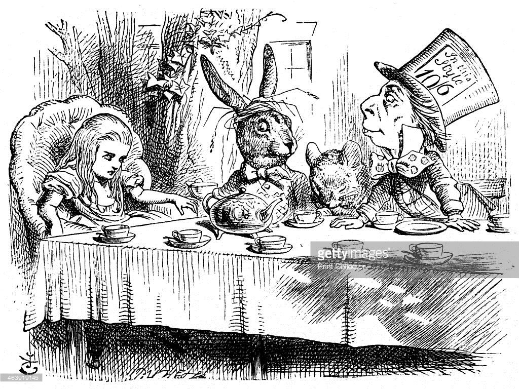 Scene From Alices Adventures In Wonderland By Lewis Carroll 1865
