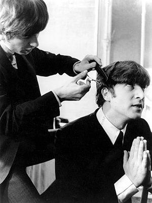 John Lennon | John gets a trim from George in 1963