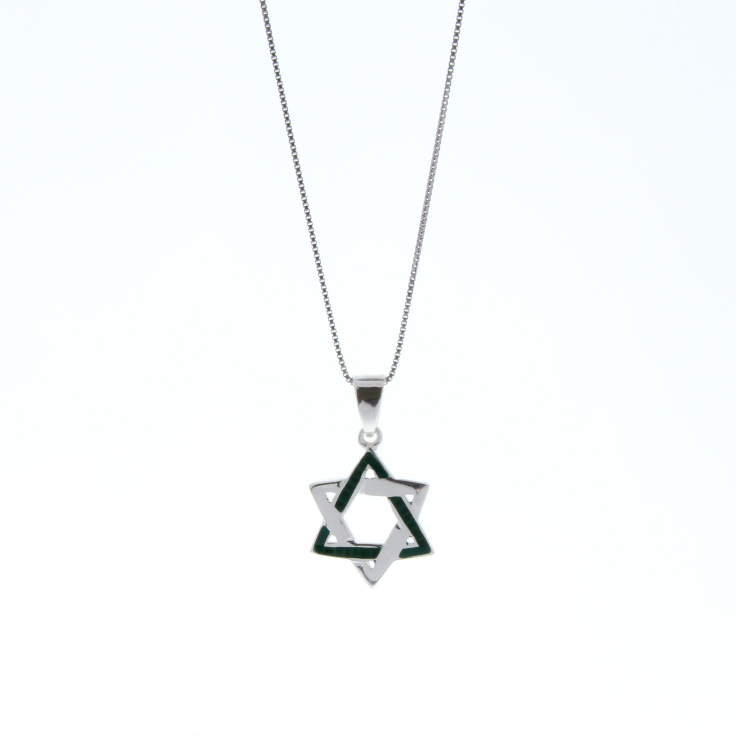 Handcrafted 925 sterling silver star of david pendant necklace a handcrafted 925 sterling silver star of david pendant necklace a delightful creation featuring a fine aloadofball Image collections