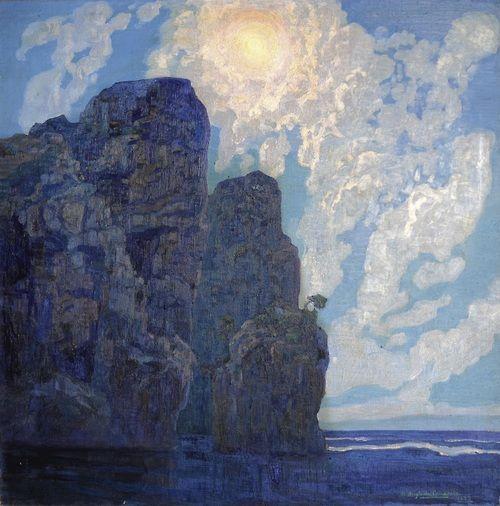 laclefdescoeurs:  Nocturne, Cala Murta, 1933, Hermenegildo Anglada-Camarasa