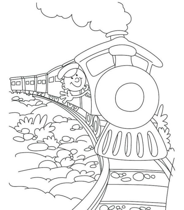 Free Steam Trains Coloring Pages Printable Train Coloring Pages Train Cartoon Coloring Pages