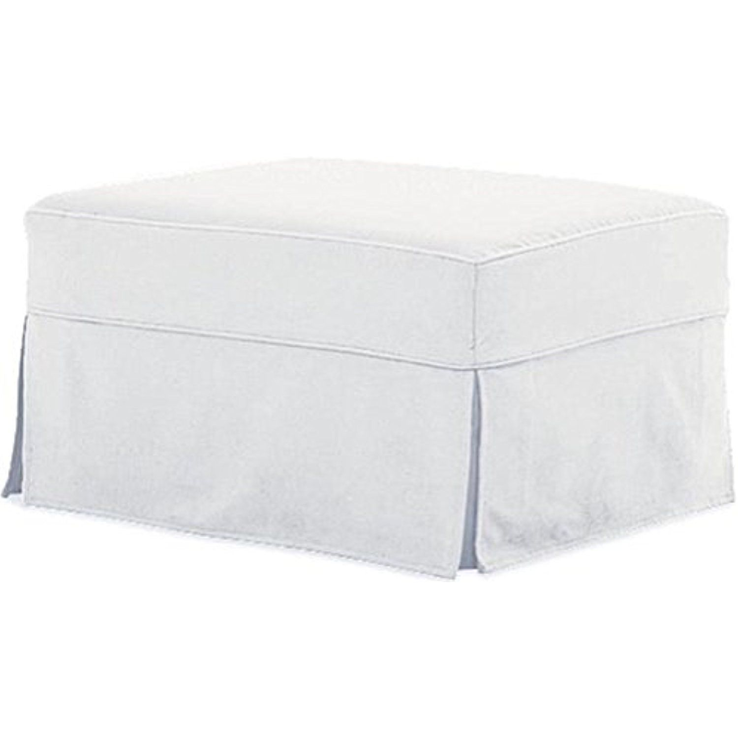 The Cotton Ottoman Slipcover Replacement It Fits Pottery