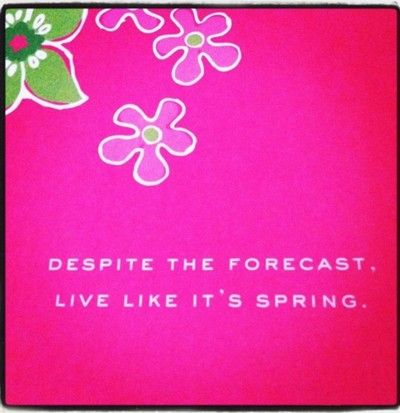Image result for despite the weather live like its spring