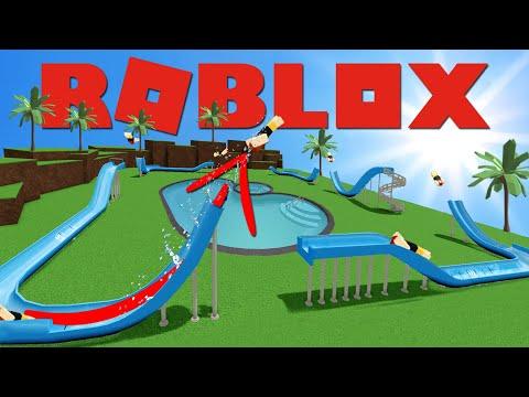 De Oneindige Glijbaan Roblox Waterpark World 7 Youtube Water Park World 7 Roblox